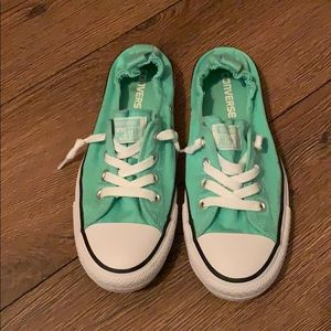 Converse mint slip on.